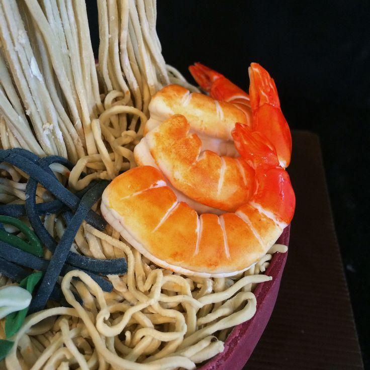Ramen seafood shrimp cake fondant