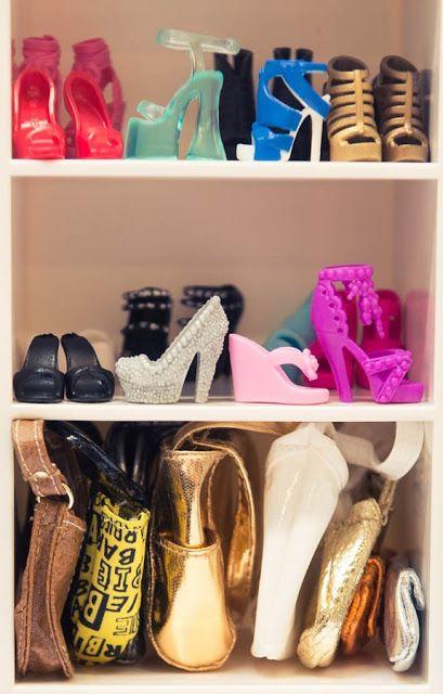 Clothes and Camera: Inspiration: Famous Closets. Barbie's shoe and hand closet.