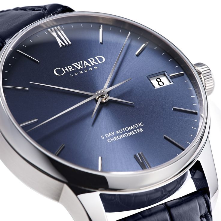C9 Harrison 5 Day Automatic Watch, Blue Dial - Christopher Ward
