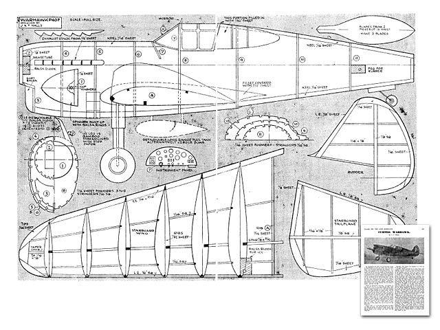 Warhawk P-40F - plan thumbnail