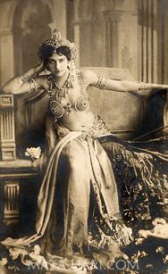 "Margaretha Geertruida ""M'greet"" Zelle McLeod, better known by the stage name Mata Hari, was a Dutch exotic dancer, courtesan, and accused spy who was executed by firing squad in France under charges of espionage for Germany during World War I."