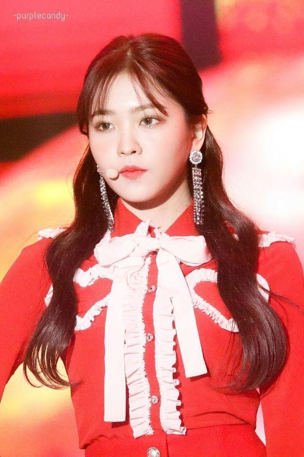Yeri Stage Outfit Ruffled Chest Hearts Shirt Velvet Clothes Velvet Fashion Red Velvet