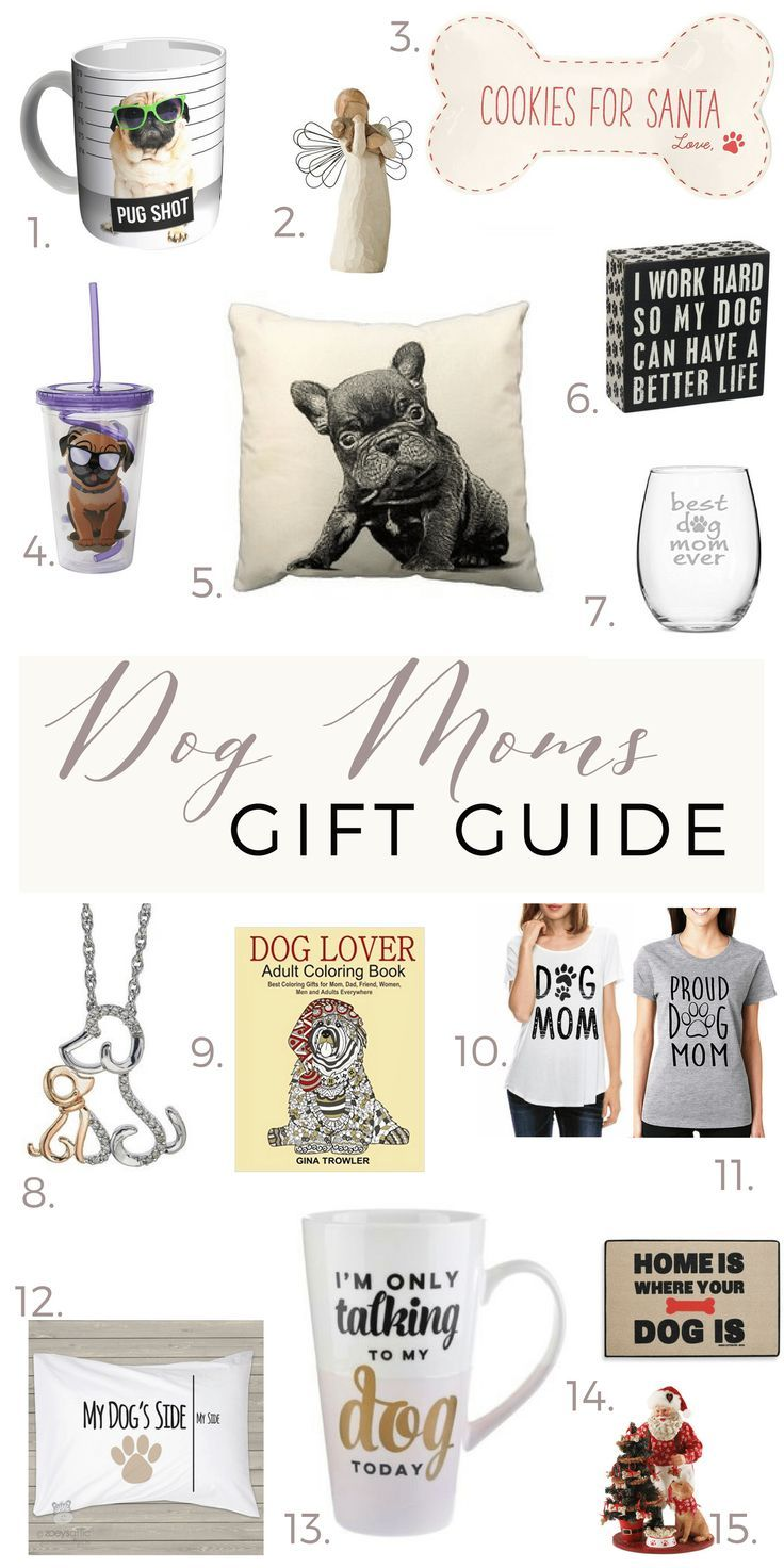 Holiday Gift Guide for Dog moms and dog lovers. thedailypursuit.com