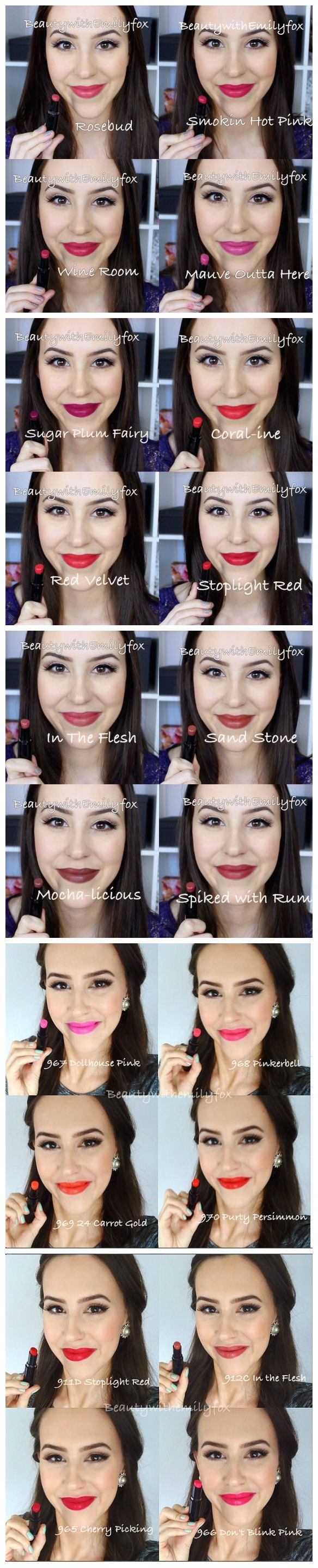 Wet n WIld Mega Last Lipsticks swatches by Emily Fox