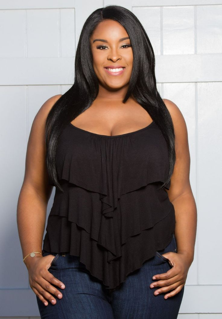 Casual Layered Detailed Style Plus Size Tops   Rebecca Ruffle Tank   Swakdesigns.com
