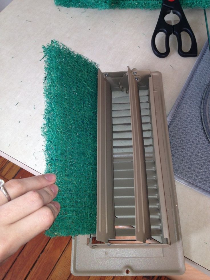 Put cut-to-size furnace filters in all your registers - WAY cheaper than having the ducts cleaned!