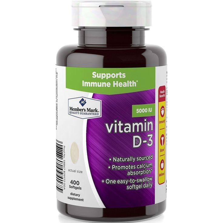 Members Mark Vitamin D-3 5000 IU Dietary Supplement (400 ct.)