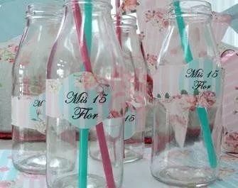 souvenirs  botellas vasos frascos cumpleaños bodas