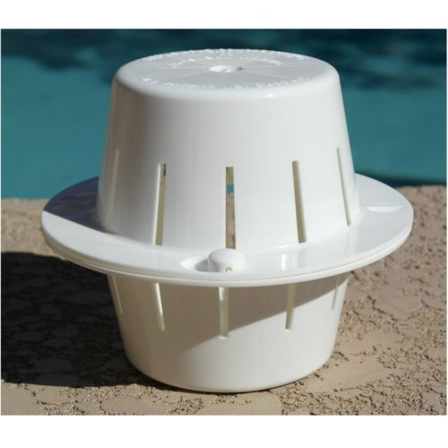Sink-Float-Pool-Chlorine-Dispenser-Spa-Tablet-Chlorinator-Swimming-White-New