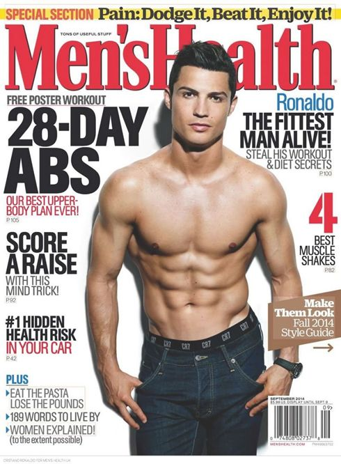 Cristiano Ronaldo in Men's Health cover from the US edition, in August of 2014  Cristiano Ronaldo has recently been elected the fittest man alive by Men's Health, the world's largest men's magazine brand. At the age of 29, the Portuguese star has already become a role model in terms of fitness for many other top level athletes out there and his training ethics are certainly second to none…