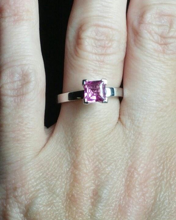 My pink princess engagement ring <3