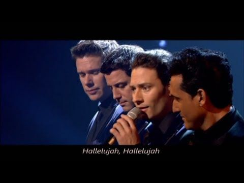 Il divo hallelujah with lyrics live in london youtube il divo syco music music gospel - Il divo amazing grace video ...