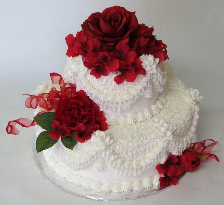 Elegant White Buttercream Wedding Cake Buttercream
