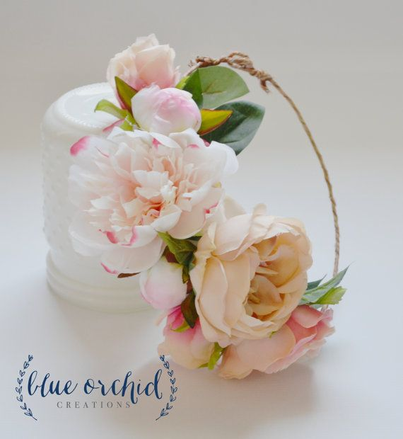 Peony Flower Crown Boho Wedding Garden от blueorchidcreations
