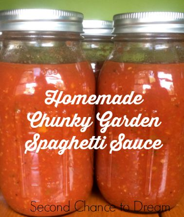 Second Chance to Dream: Homemade Chunky Garden Spaghetti Sauce