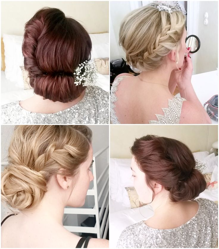 Vintage updo and braided updo