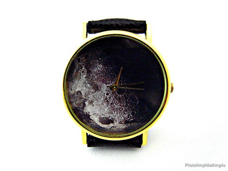 Moon Watch, Space Watch, Moon, Unisex Watch, Ladies Watch, Mens Watch, Moon Jewelry, Personalized Watch, Pattern 2 by mylittlething4u on Etsy https://www.etsy.com/listing/224638452/moon-watch-space-watch-moon-unisex-watch