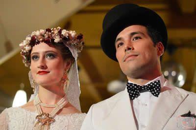 2014 MSFW Curated Program – ART du JOUR by Leiela, THE SPRING SOIRÉE featuring Vinatge Design's Floral Circlet and Top Hat – Vintage wedding love