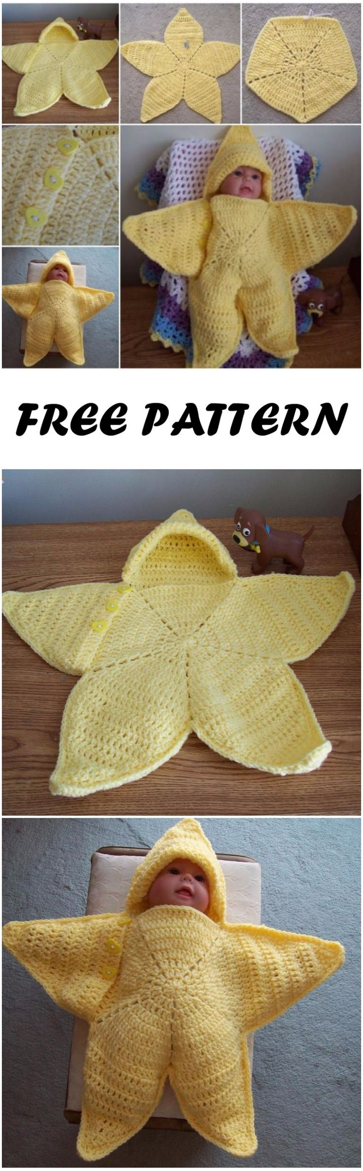 "Crochet Baby Bunting ""Twinkle Little Star"" Free Pattern"