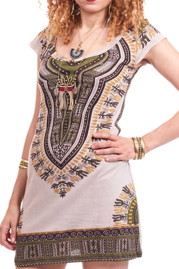 DASHIKI el sol vestido vestido africano Angelina imprimir