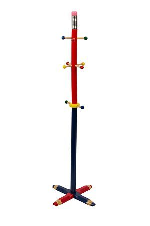 "This cute wooden pencil coat stand is both decorative and functional for any kids room. Perfect for hanging your little one's bags,coats or hats.<BR><BR><b class=""descTitle"">Dimensions:</b><BR>L34xW34xH125 cm"