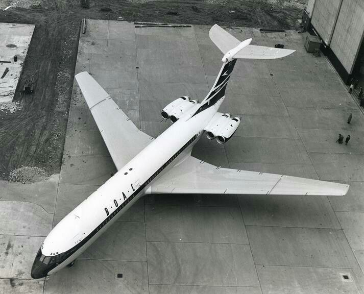 The Vickers VC-10. Other than Concorde possibly the most beautiful jetliner ever built