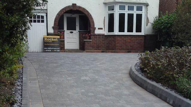 grey tumbled stone driveway - Google Search