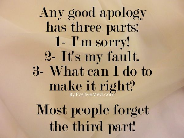 characteristics real genuine sincere apology
