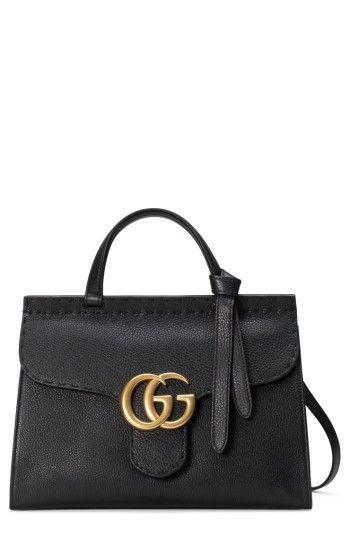 823e7b93ea98 Collection Gucci Chaussures   Sacs   Gucci Gg Marmont Sac à main en cuir  avec poignée