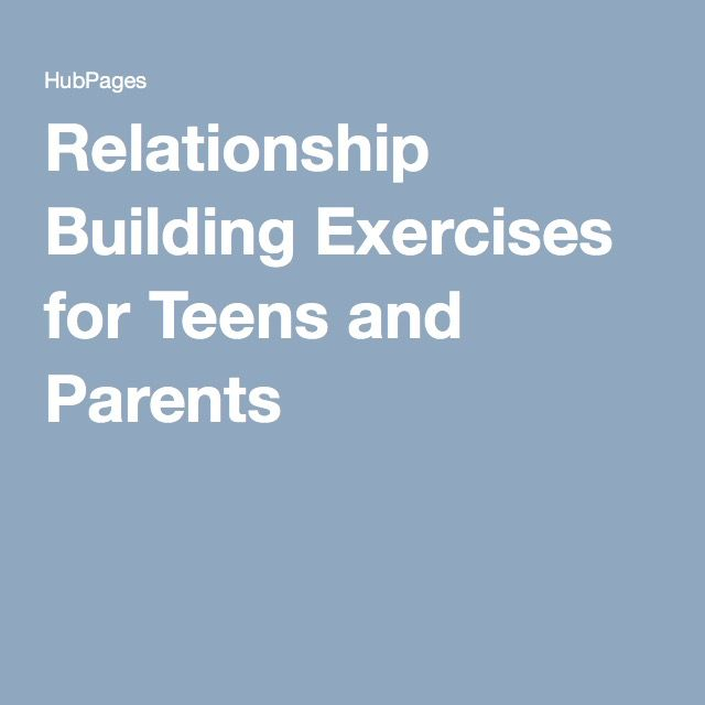 relationship building activities for parents and children