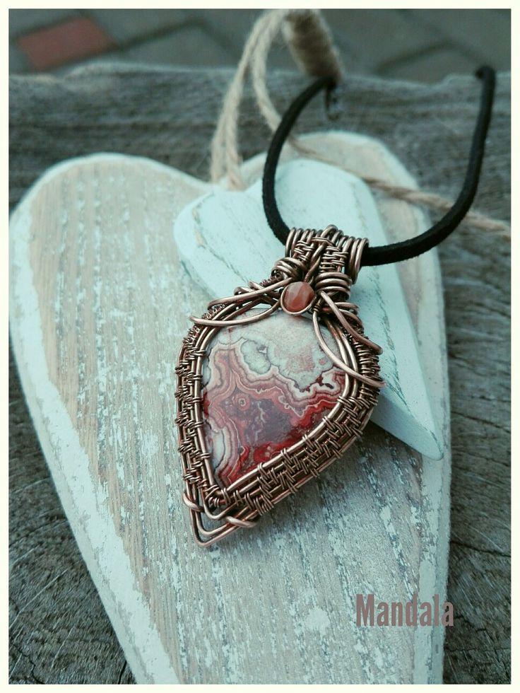 Rozetta jasper copper necklace