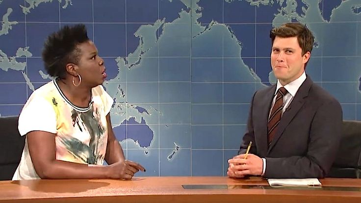 Here's an Adorable Compilation of All the Times Leslie Jones Has Made Colin Jost Blush on Live TV