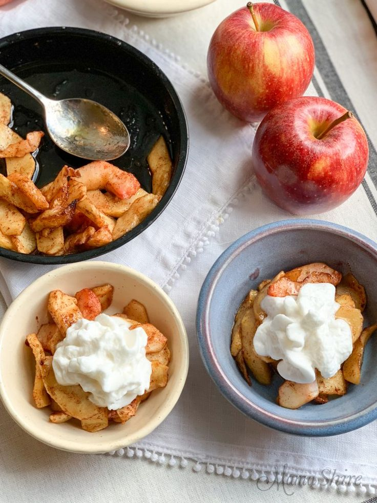 AirFried Spiced Apples Recipe Air fryer recipes