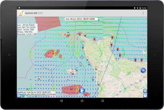 SailGrib, l'application météo claire et accessible