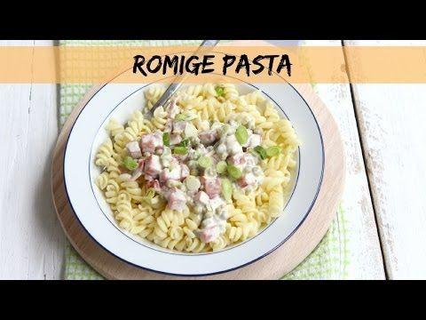 ▶ Lekker en Simpel - Romige pasta met hamblokjes en doperwtjes - YouTube