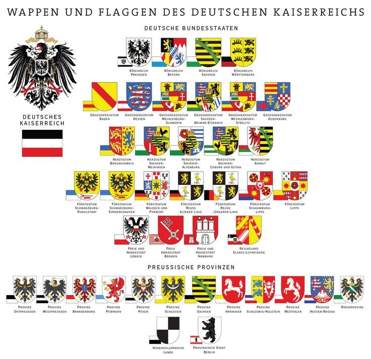 Wappen und Flaggen des Deutschen Reichs und der Preußischen Provinzen - Liste der Wappen in Deutschland – Wikipedia