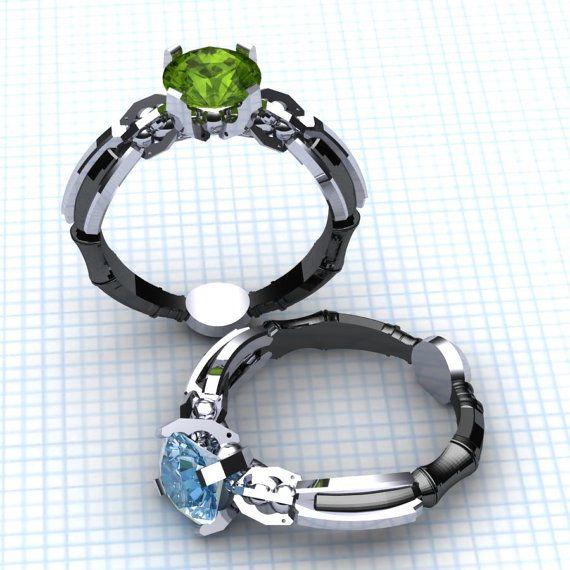 The Sonic Screwdriver Solitaire Ring + Spinning TARDIS Ring [Pics]