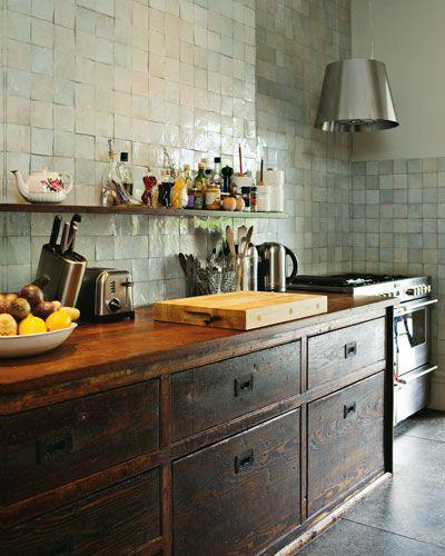 antique kitchen counter