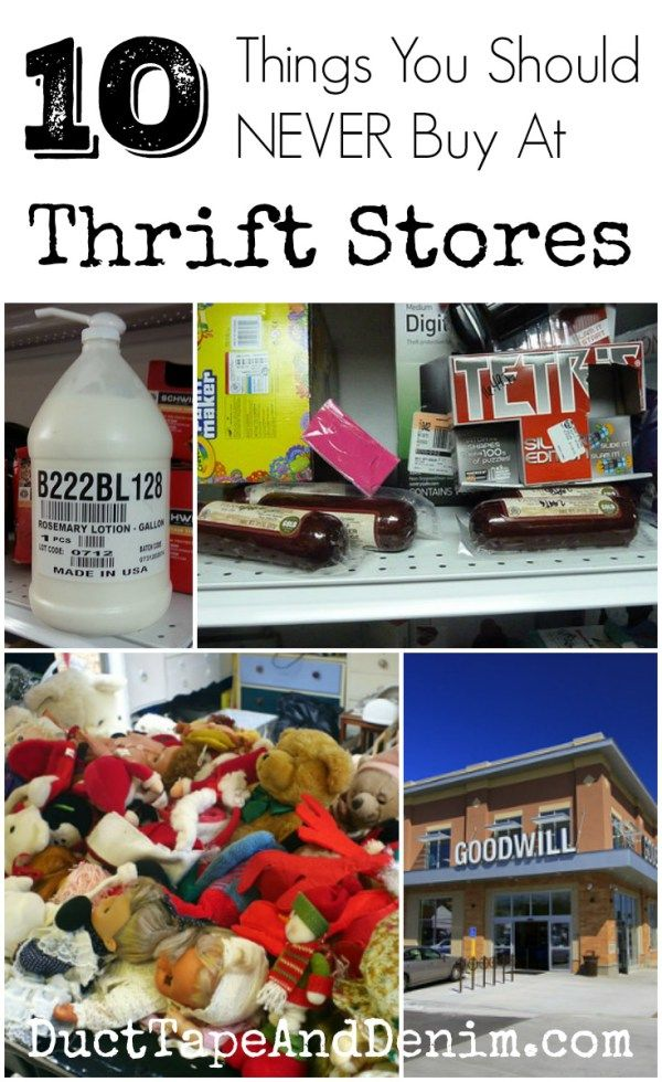 10 Things You Should NEVER Buy at Thrift Stores | DuctTapeAndDenim.com