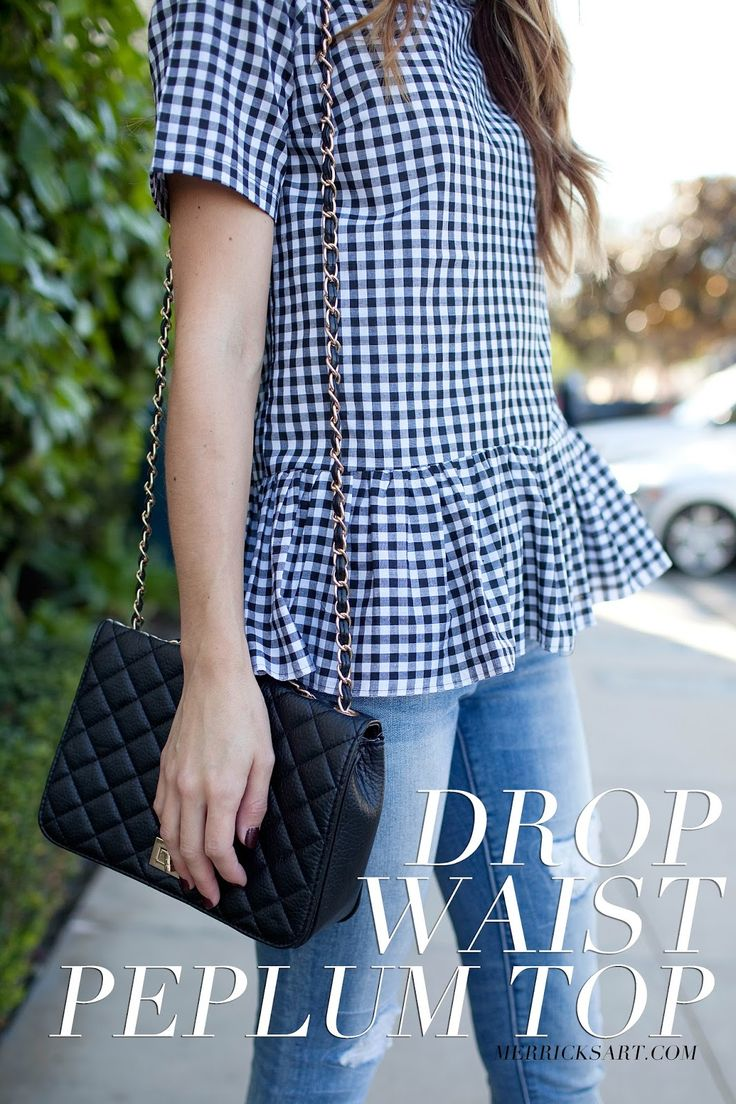 Merrick's Art // Style + Sewing for the Everyday Girl: DIY FRIDAY: GINGHAM DROP WAIST PEPLUM TOP