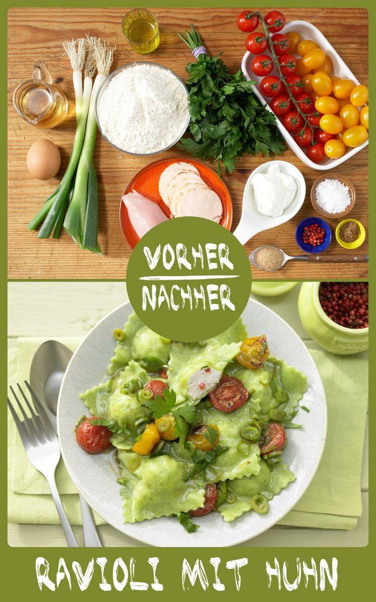 http://eatsmarter.de/rezepte/ravioli-haehnchenfuellung Mögt Ihr auch so gerne Ravioli? Die Pasta-Variante geht immer.
