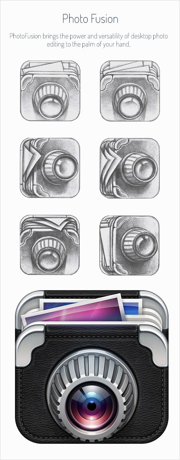 Realistic iOS App Icons & Sketching for Inspiration