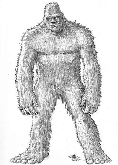 bigfoot printable coloring pages - photo#33
