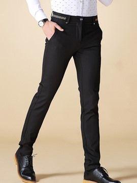 Ericdress közepes hosszúságú egyenes Slim Formai Férfi nadrág