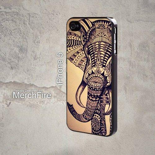 Elephant aztec Iphone 5 Case | merchfire - Accessories on ArtFire