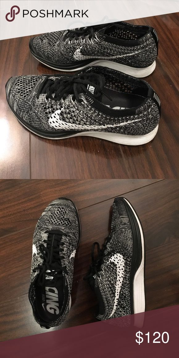 Womans Nike Oreo Flyknit Racers. Selling these lightly used Oreo Flyknit Racers!. They have only been worn indoors (2-3 times) and in great condition. Nike Shoes Athletic Shoes