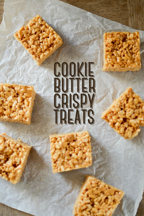 Speculoos Recipe | Rice Krispie Recipe | Cookie Butter Crispy Treats | A Teaspoon of Happiness