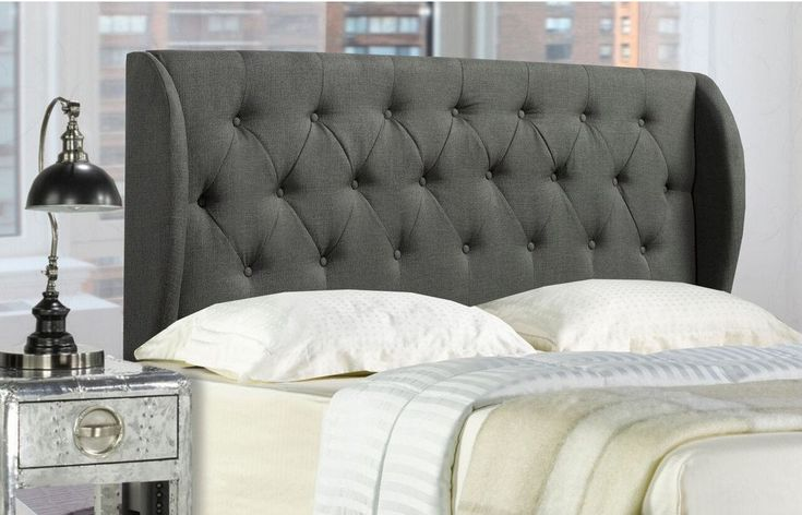 Monroe Queen/Full Headboard (Grey) . . . #furniture #homedecor #interiordesign #design #decor #home #living #office #family #entertainment #luxury #affordable #sale #discount #freeshipping #canada #toronto #usa #america #fashion #design #bedroom #comfort #happy #style #rest #relax