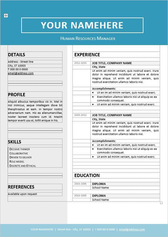 free 2 column resume templates column