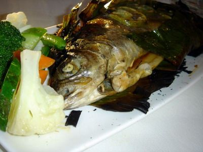 Steamed White Fish with Vegetables